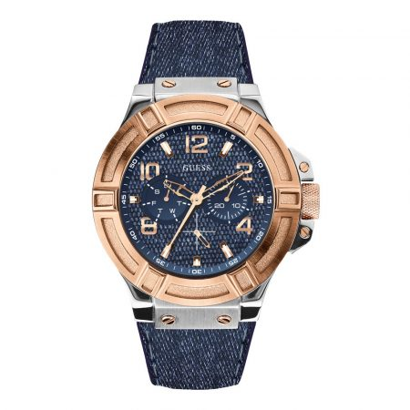 Guess herenhorloge denim W0040G6
